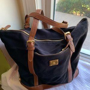 Ralph Lauren brown black tote bag 16 by 14